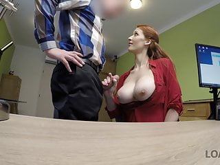 Teen Blowjob Redhead video: VIP4K. Buxom ginger is fucked hard at casting performed by