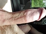 Showing off my dick in the car