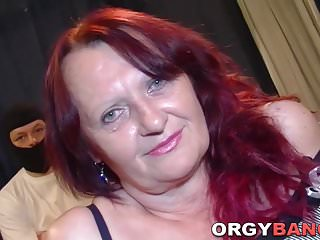 Matures Group Sex Hardcore video: Group granny spitroasted