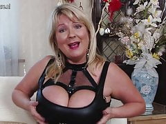 British big breasted mom goes wild