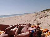 Girl masturbating by the sea