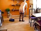 Milf cleaned the kitchen