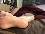 Sexy Footjob By An Inked BBW