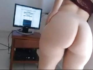 PWAG big round pale ass watching big cock on cam