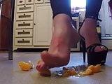 Heels feet and food crush