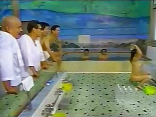 Asian Japanese Funny video: Japanese Onsen TV