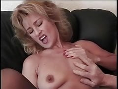 Very attractive blonde milf with big nipples