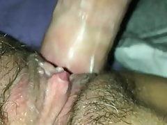 Gorące zbliżenie kremowej kurwa