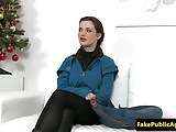 Busty euro model pussyfucked at audition
