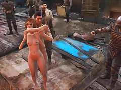 Fallout 4 gangbang pubblico a Diamond City