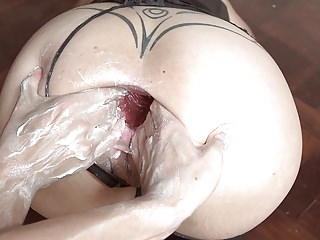 Milfs Fisting Big Butts video: MONSTER DILDO GAPE FISTING AND DOUBLE FISTING