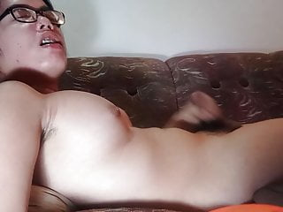 Hd Videos Webcam Shemale video: Nerdy ts explodes