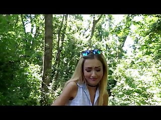 Quickie within the woods with a small whore Empera