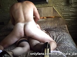 Muscle daddy fucked his sissy trans hard...