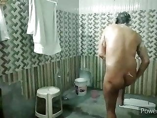 Masterbating in a shower