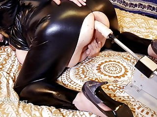 Huge tits wife wears a mask while a...