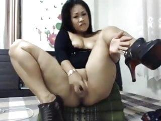 Thick Asian Dildo Workout