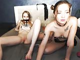 Lesbian bondage on webcam