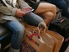 nice crossed legs in the MTR