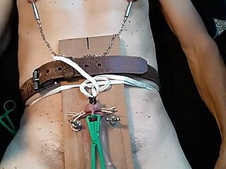 cbt 2 part nipple torture Self and