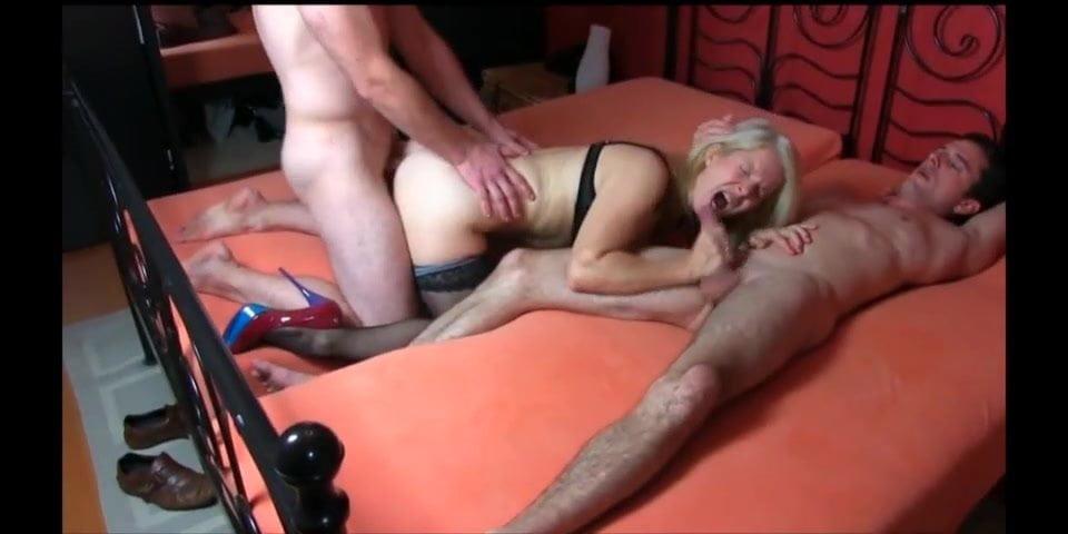 Big Tits Blonde Threesome Hd