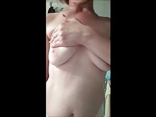 breasts cancer breast self examination - of female against