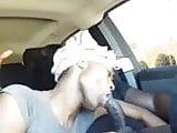 Black CD Car Blowjob