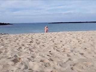 Mature British Big Tits an the Beach