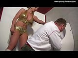 Mistress force a Slave to clean the Toilet