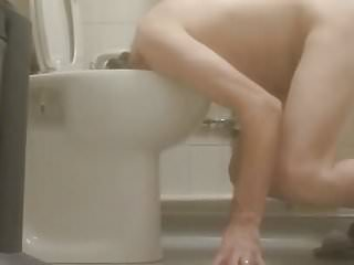 Sissy Joanna cleans the toilet for Mistress August