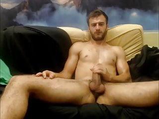 Handsome masturbing