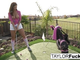 Taylor shows you her big tits
