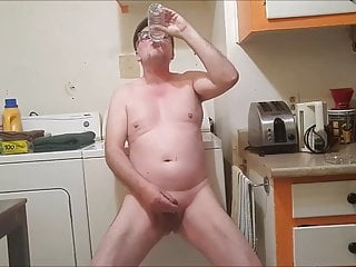 Drinking a full bottle of my own warm piss