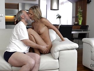 OLD4K. Bearded old guy fingers wife's twat before shoving rod