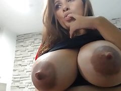 Lactating latina cam