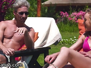 DPFanatics Sunny Day Step-Sis Will get 2 Cocks Outdoor
