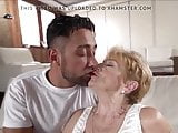 A horny grandma is fucked by a hot young guy