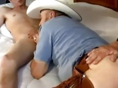 Teen with daddy and grandpa