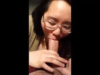 Asian Teen Blowjob video: Teen Asian Nerd Slut Sucking Friend