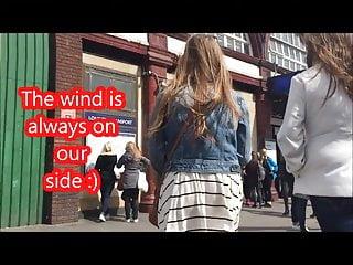 upskirt wind teen - skirt lift