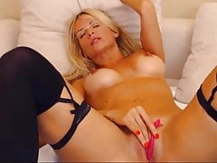 Tanned Ash-blonde With Spectacular Ginormous Nippless Gets Heavy Orgasm