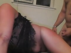 Fucked doggy then cum on tits NJ amature wife