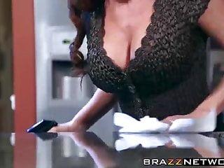 Spectacular milf diamond foxxx sex in a kitchen...