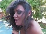 Charley Chase fucks Nick Manning by the pool