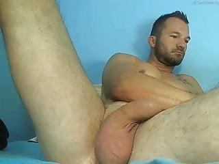 Young hairy bear has huge balls...