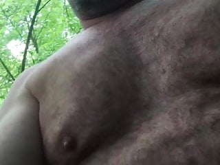 سکس گی Slave in wood outdoor  masturbation  fat  bear  amateur
