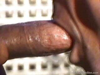 Interracial suck off