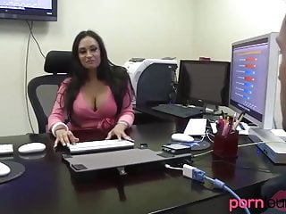 Cougar boss takes cum on ass from employee