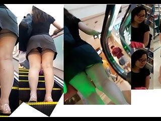 Singapore Upskirt 6 – Large horny mom ebony panties