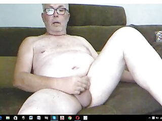 Dad wanking & jerking for me on skype.